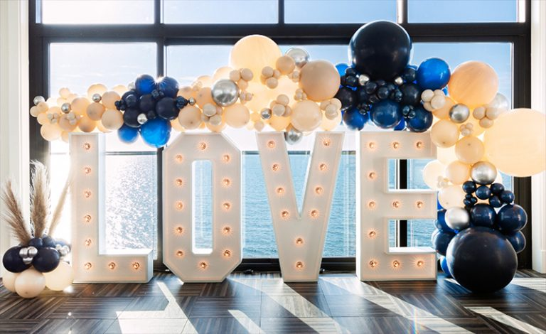 Elevated Impressions Party With LOVE Letter Signs